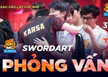 Karsa nghẹn ngào sau trận thua trước SofM, bạn thân SwordArt đáp lời: Hãy để tớ thay cậu thực hiện giấc mơ vô địch