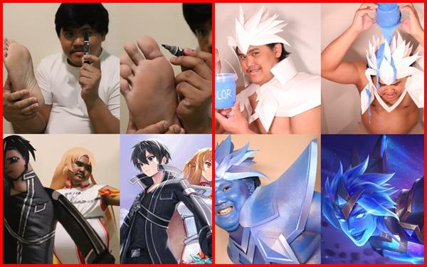 """Tổng hợp các màn cosplay skin Liên Quân đỉnh cao siêu lầy lội của anh chàng Thái Lan """"Low Cost Cosplay"""""""