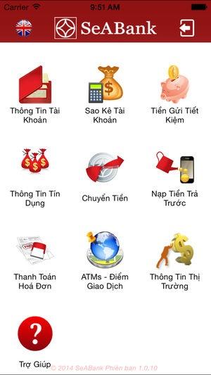 tải app SeAMobile SeABank Mobile Banking