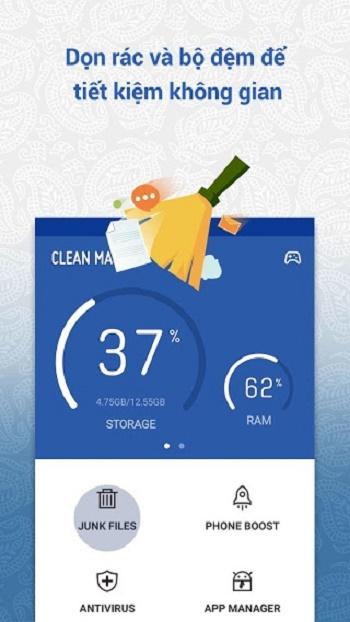 clean master - ứng dụng dọn rác cho android tốt nhất